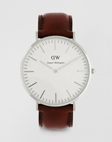 Daniel Wellington St Andrews 40mm Leather Strap Watch