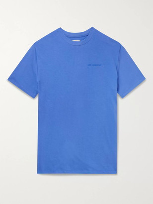 Aimé Leon Dore Logo-Embroidered Cotton-Jersey T-Shirt - Men - Blue