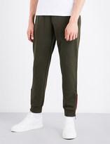Armani Jeans Flocked cotton-jersey jogging bottoms