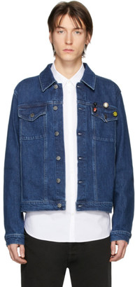 Raf Simons Blue Denim Slim Fit Jacket