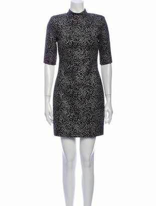 Alice + Olivia Printed Mini Dress w/ Tags Black