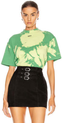Off-White Off White Tie Dye Jersey Over T Shirt in Light Green | FWRD