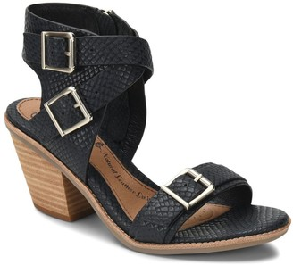 Sofft Leather Buckle Sandals - Marlyn