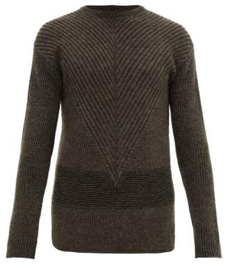 Rick Owens Fisherman Ribbed Wool Blend Sweater - Mens - Black Brown