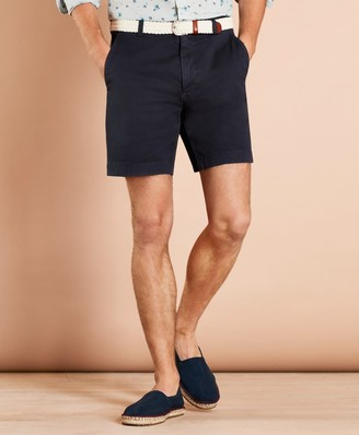 """Brooks Brothers Garment-Dyed Stretch Chino 7"""" Shorts"""