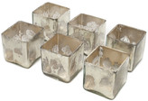 Serene Spaces Living Silver Glass Cube, Set of 6