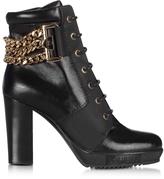 Loriblu Black Leather Platform Ankle Boot