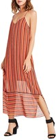 BCBGeneration Stripe Slip Maxi Dress