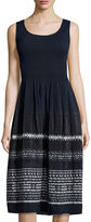 Max Studio Sleeveless Jacquard Dress, Navy