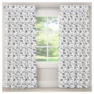 "Skyline Furniture Menagerie Blackout Curtain Panel (63""x50"") Gray"