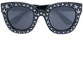 Gucci cat eye sunglasses with stars - men - Acetate - One Size
