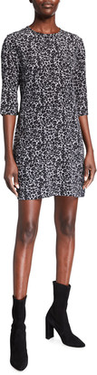 Equipment Aubrey Leopard Print Silk Mini Dress