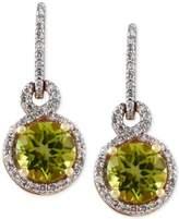 Effy OLIVIA by Peridot (1-5/8 ct. t.w.) and Diamond (1/4 ct. t.w.) Drop Earrings in 14k Gold