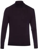 Lanvin Roll-neck Fine-knit Silk Sweater