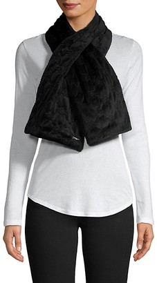 Karl Lagerfeld Paris Quilted Velvet Pull-Thru Scarf