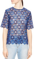 Sandro Dolce Lace Box Top