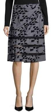 Marc Jacobs Checkered Pleated Wool Skirt
