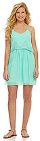 Takara Eyelet Embroidered Popover Dress