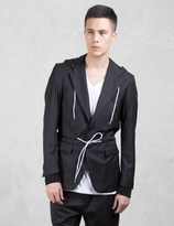 Moschino Single Breast Drawstring Waist Causal Blazer