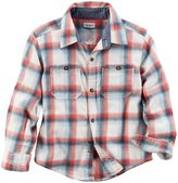 Carter's Woven Button Front Shirt - Plaid - 6