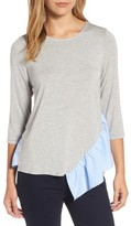 Pleione Women's Wraparound Ruffle Hem Sweater