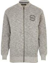 River Island MensGrey marl Jack & Jones zip up bomber jacket