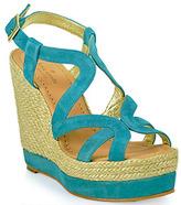 Kate Spade Liv - Platform Wedge Sandal in Turquoise