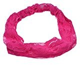 Tonsee® Elegant Women Bandanas Lace Headwrap Headband Girls' Hair Accessory Gift (Hot pink)