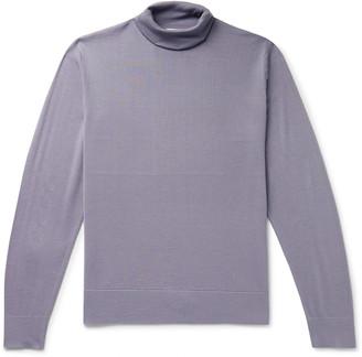 Dries Van Noten Merino Wool Rollneck Sweater