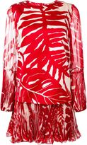 Ermanno Scervino drop waist palm print dress