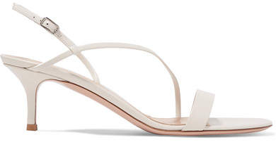 Gianvito Rossi 55 Leather Slingback Sandals - Off-white