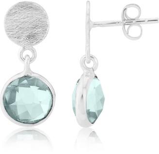 Auree Jewellery Salina Silver & Blue Topaz Earrings