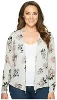 Lucky Brand Plus Size Pull Tie Cardigan