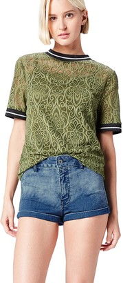 find. Women's Shorts in Crochet Lace Embroidery with Contrast Hem