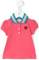 Gucci Kids - heart embroidered polo shirt - kids - Cotton/Spandex/Elastane/Viscose/Metallic Fibre - 3-6 mth