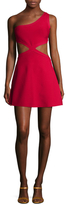 BCBGMAXAZRIA One Shoulder Flared Dress