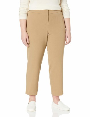 Kasper Women's Size Plus Stretch Crepe Slim Pant