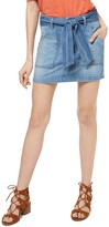 Sanctuary Karate Belted Denim Mini Skirt