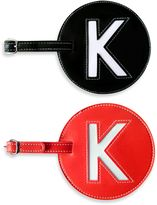 """Initial """"K"""" Luggage Tag in Red"""