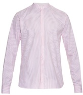 Mathieu Jerome Granddad-collar Striped Cotton Shirt