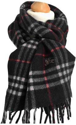 Burberry Black Wool Scarves & pocket squares