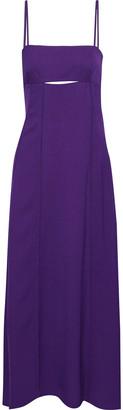 3.1 Phillip Lim Cutout Pleated Crepe Maxi Dress