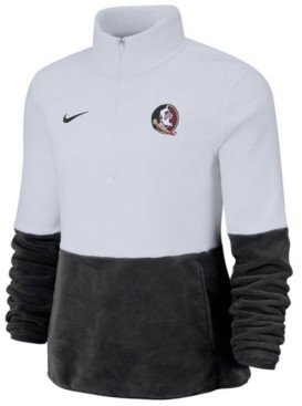 Nike Women's Florida State Seminoles Therma Long Sleeve Quarter-Zip Pullover