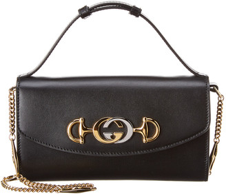 Gucci Zumi Mini Smooth Leather Shoulder Bag