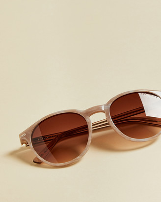 Ted Baker CATANIA Round marbled sunglasses