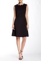 Andrew Marc Sleeveless Grommet Trim A-Line Dress