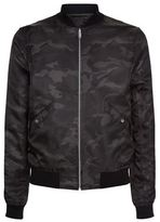 Sandro Reverse Leather Bomber Jacket