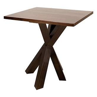 "American Trails Ridgefield End Table with 1"" Thick Solid Walnut Wood Top"