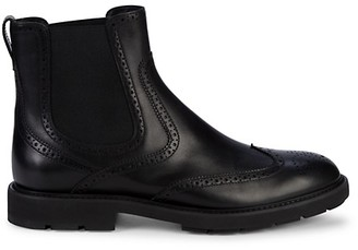 Tod's Leather Wingtip Chelsea Boots