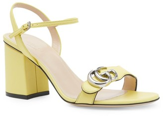 Gucci Women's Mid-Heel Sandals with Double G